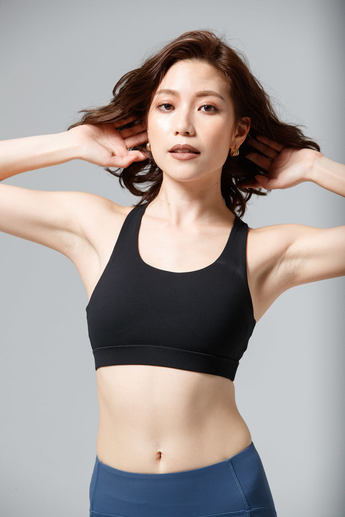 Maximum-Support Movement Sports Bra - Black - PrettyAim Thailand