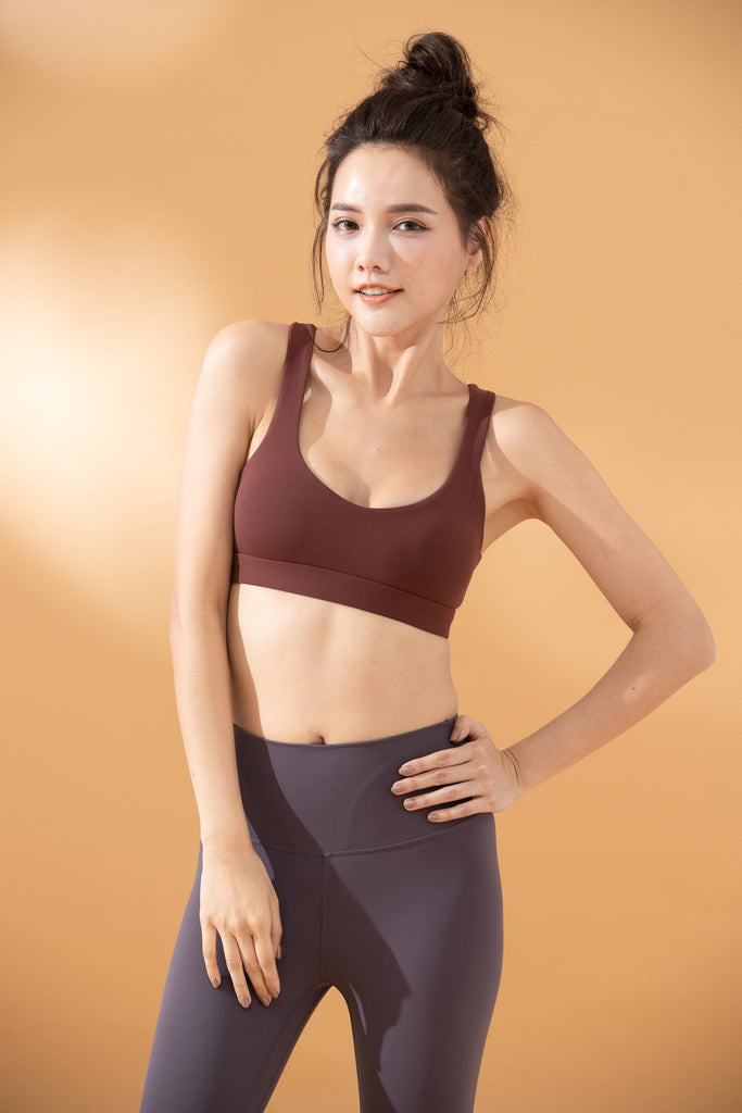 Medium-Support Back Dunk Sports Bra - Red - PrettyAim Thailand