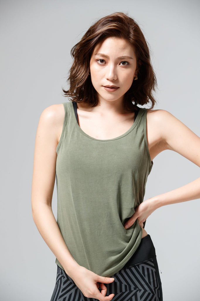 Leisure Sports Tank-Green - PrettyAim Thailand