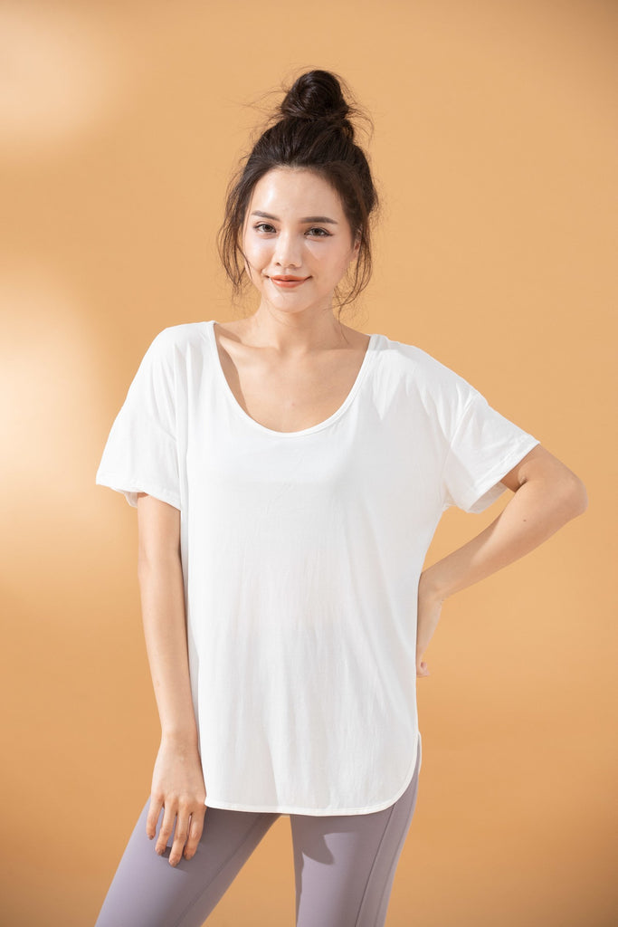Cozy Short Sleeve Tee-White