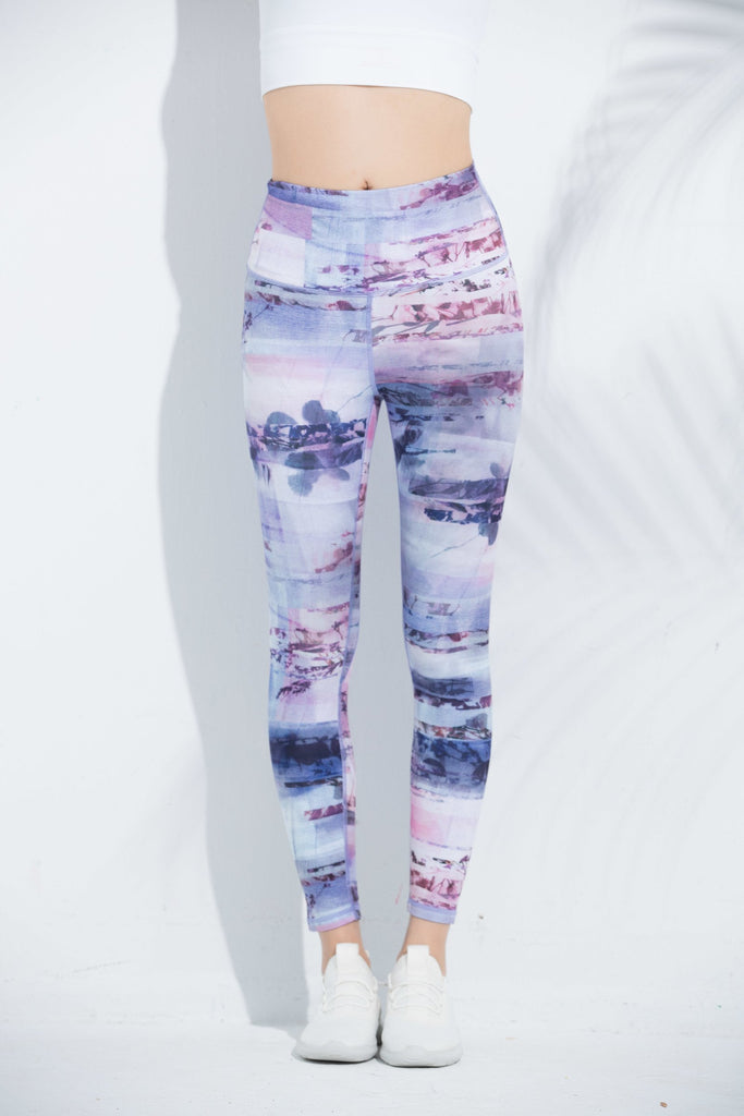 Watercolor High-waist Fitting Legging
