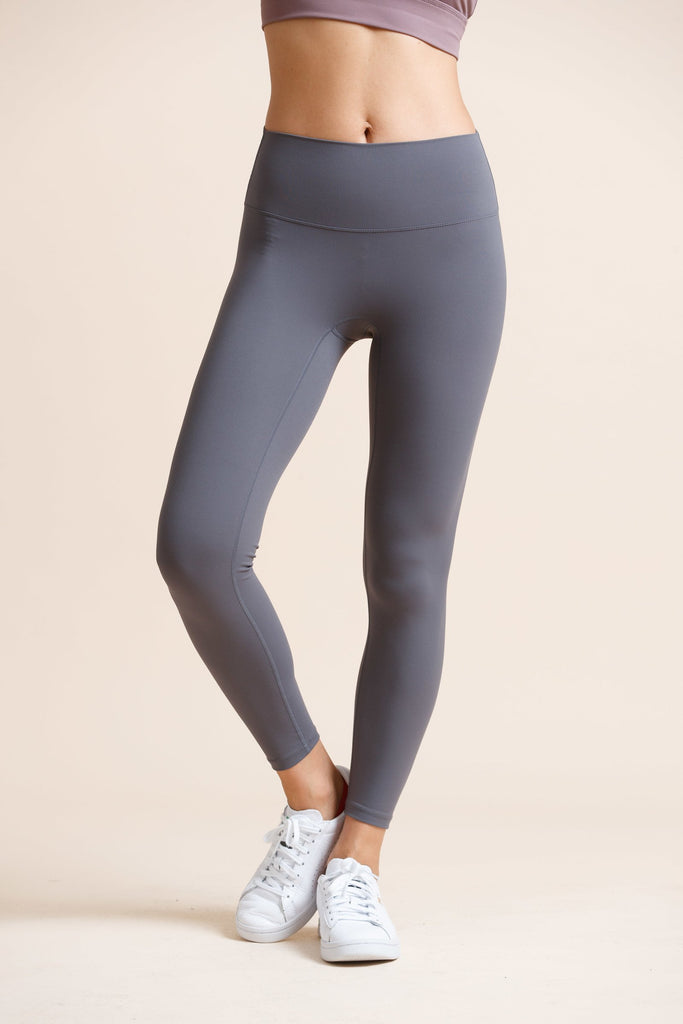 High-waist Naked Seamless Legging-Moon Grey - PrettyAim Thailand