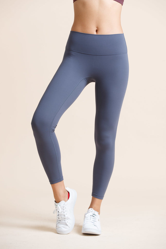 High-waist Naked Seamless Legging-Blue Gray - PrettyAim Thailand