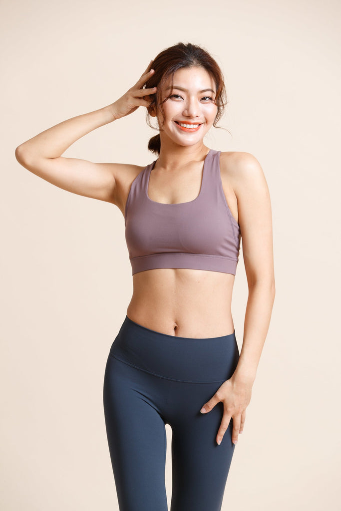 Medium-support Flash Sports Bra -Ash