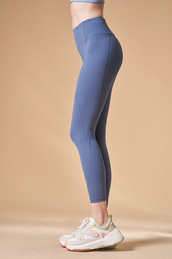 High-waist Lightweight Linear Legging-Blue - PrettyAim Thailand