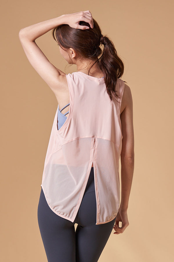 Breathable sports Tanks- Pink