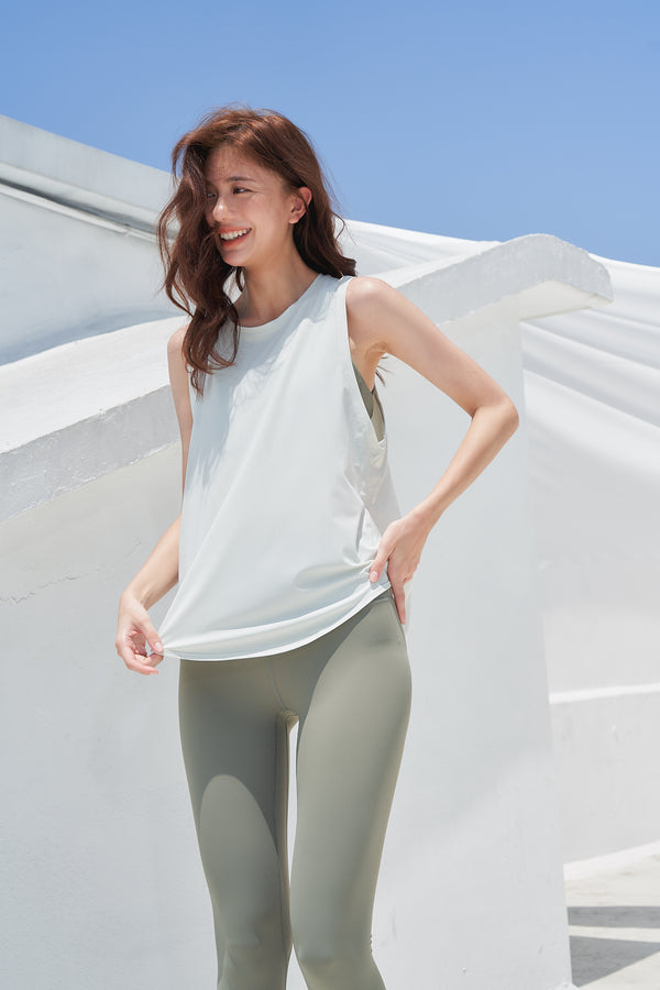 Breathable sports Tanks- Green