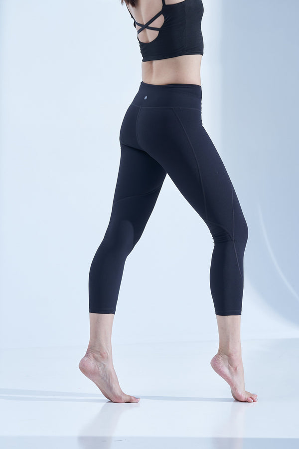 High-waist Lightweight Linear Legging-Black - PrettyAim Thailand
