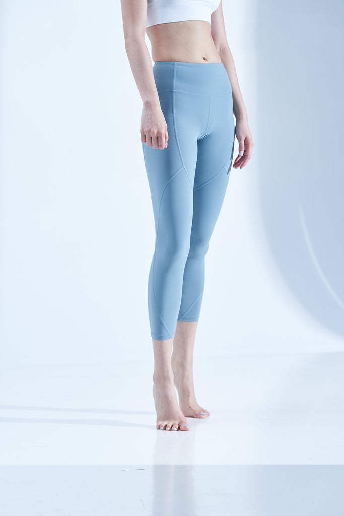 High-waist Lightweight Linear Legging-Green - PrettyAim Thailand
