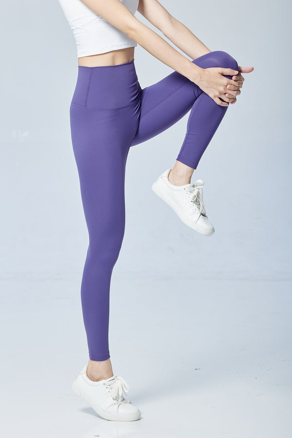 More High-waist Naked Seamless Legging-Purple