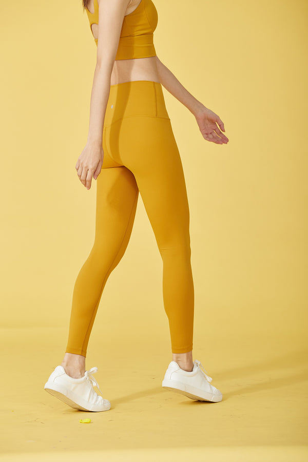 More High-waist Naked Seamless Legging-Yellow