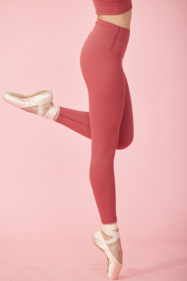 More High-waist Naked Seamless Legging-Tea Red