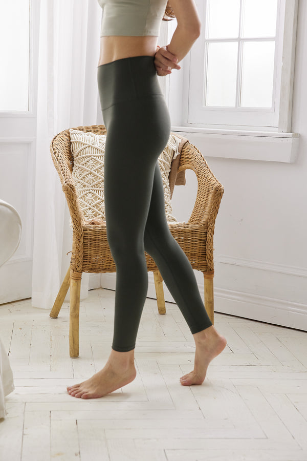 More High-waist Naked Seamless Legging-Forest Green