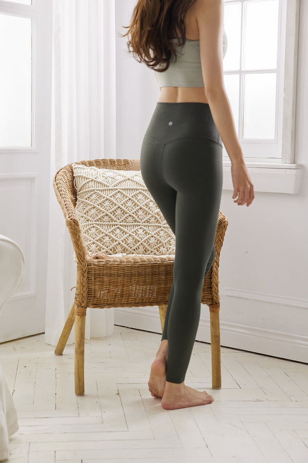 More High-waist Naked Seamless Legging-Dark Green