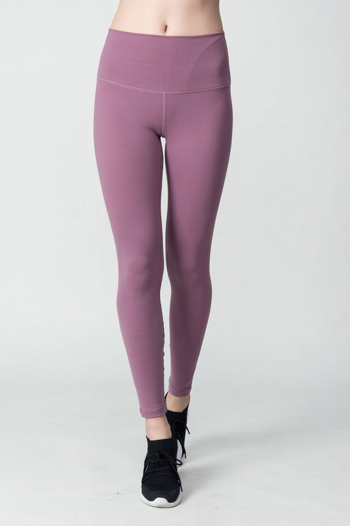 High-waist Plain Legging-Mistyrose