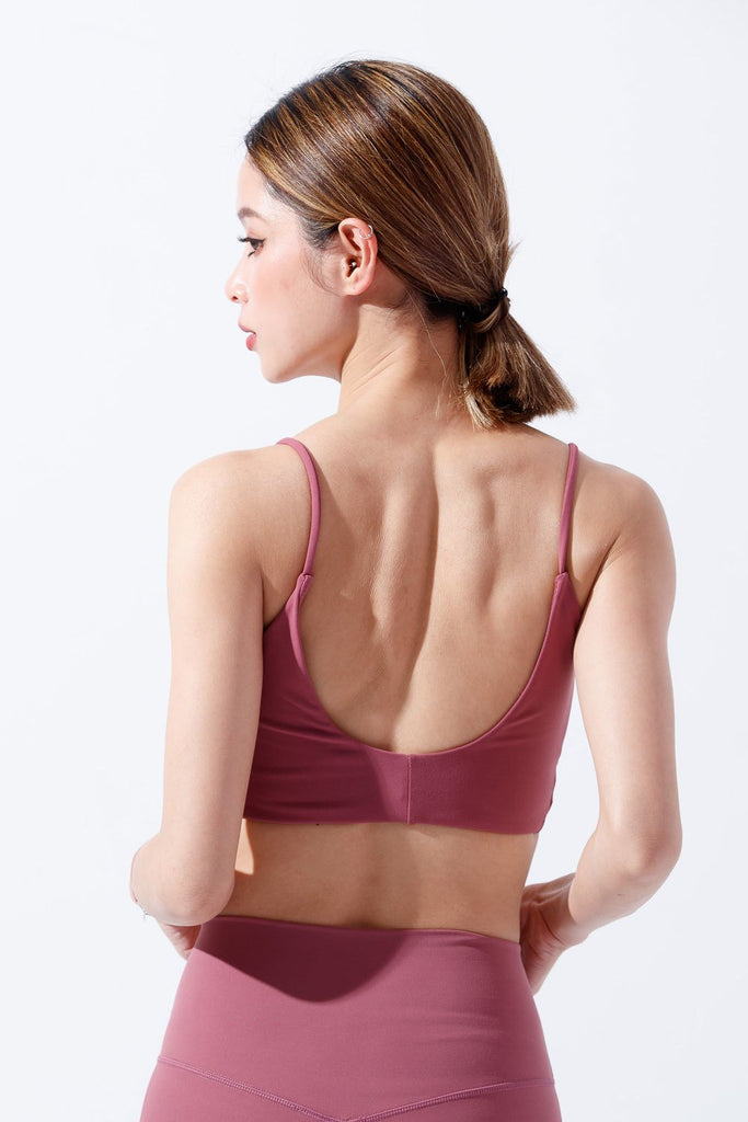 Light-Support Tank Top Sports Bra-Rose - PrettyAim Thailand