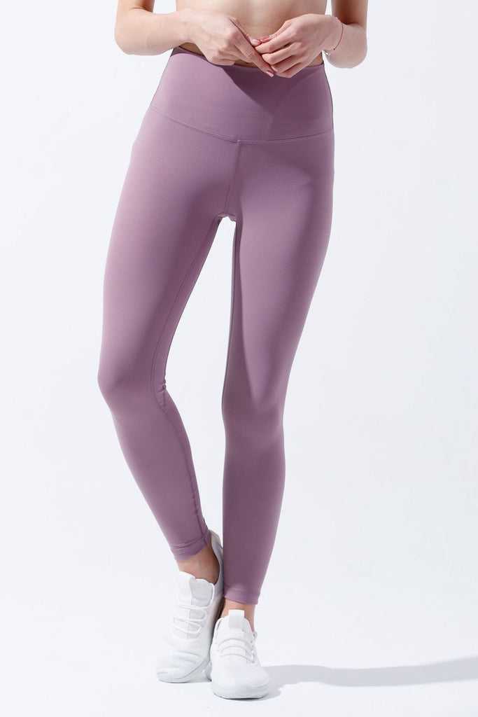 High-waist Lightweight Fitting Legging-Mistyrose - PrettyAim Thailand