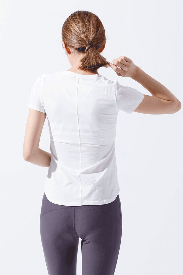 Slim Cotton Short Sleeve Tee-White(ผ้าฝ้าย)