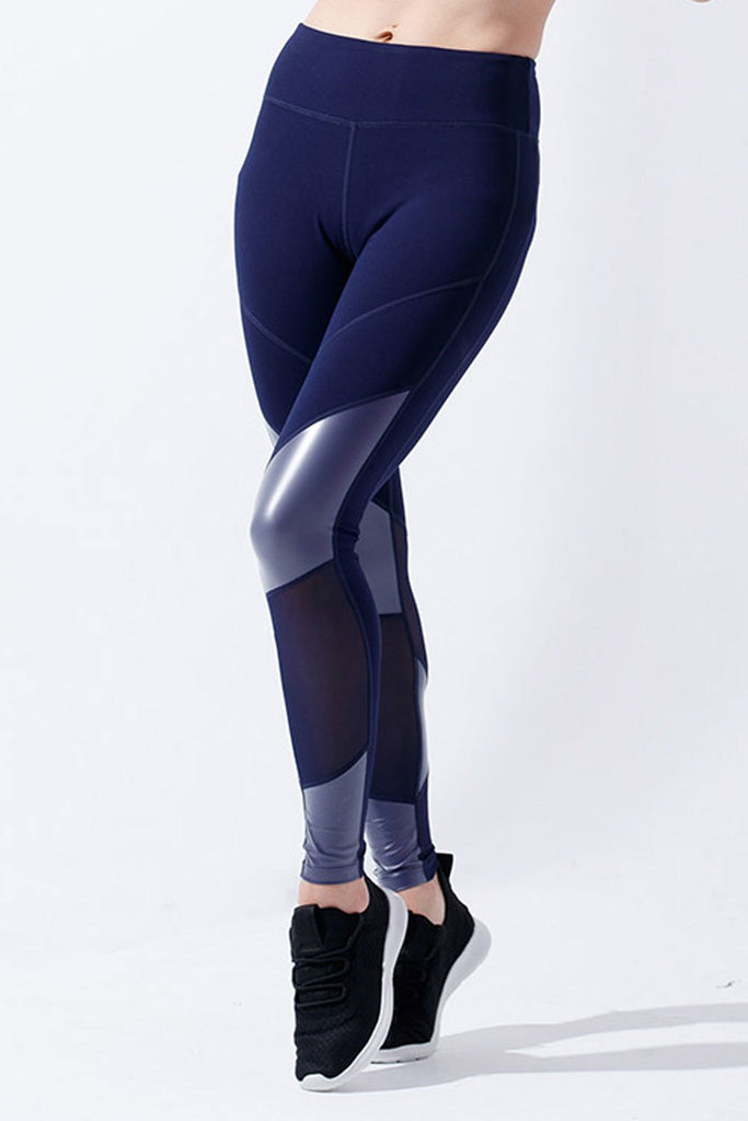 High-waist Fashion Linear Legging-Blue - PrettyAim Thailand