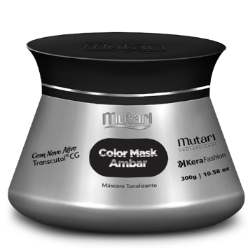 COLOR MASK AMBAR (Black) -  Color Conditioners 300g / 10.58oz - Intensifies, tones and revives the color of the hair.