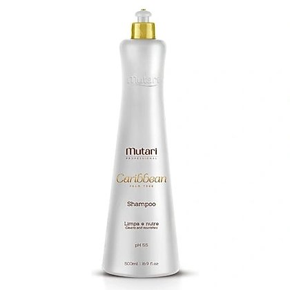 Caribbean Mutari Shampoo - 500ml / 17fl oz - Promotes efficient cleaning, nutrition, flexibility and malleability of the hair. Sulfate free.