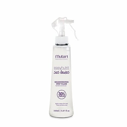 Thermal Reconstructor Spray Stop Flash Mutari 150ml / 5.07fl oz - Multifunctional Leave-in promotes strength and resistance to highlighted, bleached and colored hair.