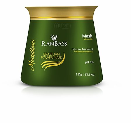 Brazilian Power Mask Macadamia / Nutrition Conditioner - 1kg / 35.3oz - Nutrition Line for all hair types.