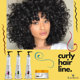 Curly hair line - 4 Steps Curly Line - Black Multi Rizos SET - Modeled, disciplined, hydrated curls, controlled volume and reduced frizz.