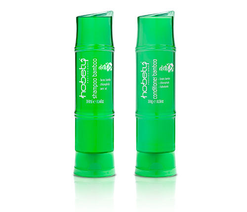 Green Bamboo Detox SET - Home care - Shampoo 300ml / 10.14fl oz + Conditioner 300ml /10.14fl oz - For all hair types that need detoxification or for very oily hair.