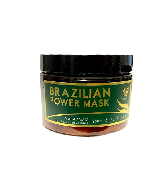 Brazilian Power Mask Macadamia / Nutrition Conditioner - Home Care - 300g / 10.58oz - Nutrition Line for all hair types.