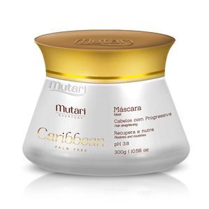Caribbean Conditioner Mutari Mask  - 300ml / 10.58oz - Strand repair line. Replenish the hair mass, ideal for after bleaching and keratin.