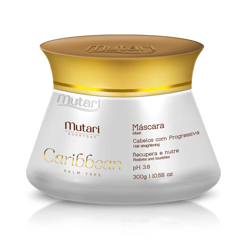 Caribbean Conditioner Mutari Mask  - 300ml / 10.58oz - Strand repair line. Replenish the hair mass, ideal for after bleaching, keratin or hair botox.sses.