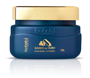 Gold Mask - Baño de Oro Conditioner / Mask  - 300g - 10.58oz - For all hair types, with hyaluronic acid, hydrolyzed keratin for instant strand repair.