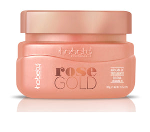 Rose Gold Conditioner Mask - Rose Gold Mask 300g / 10.58oz - For brittle hair that needs growth and resistance. WITH BIOTIN.