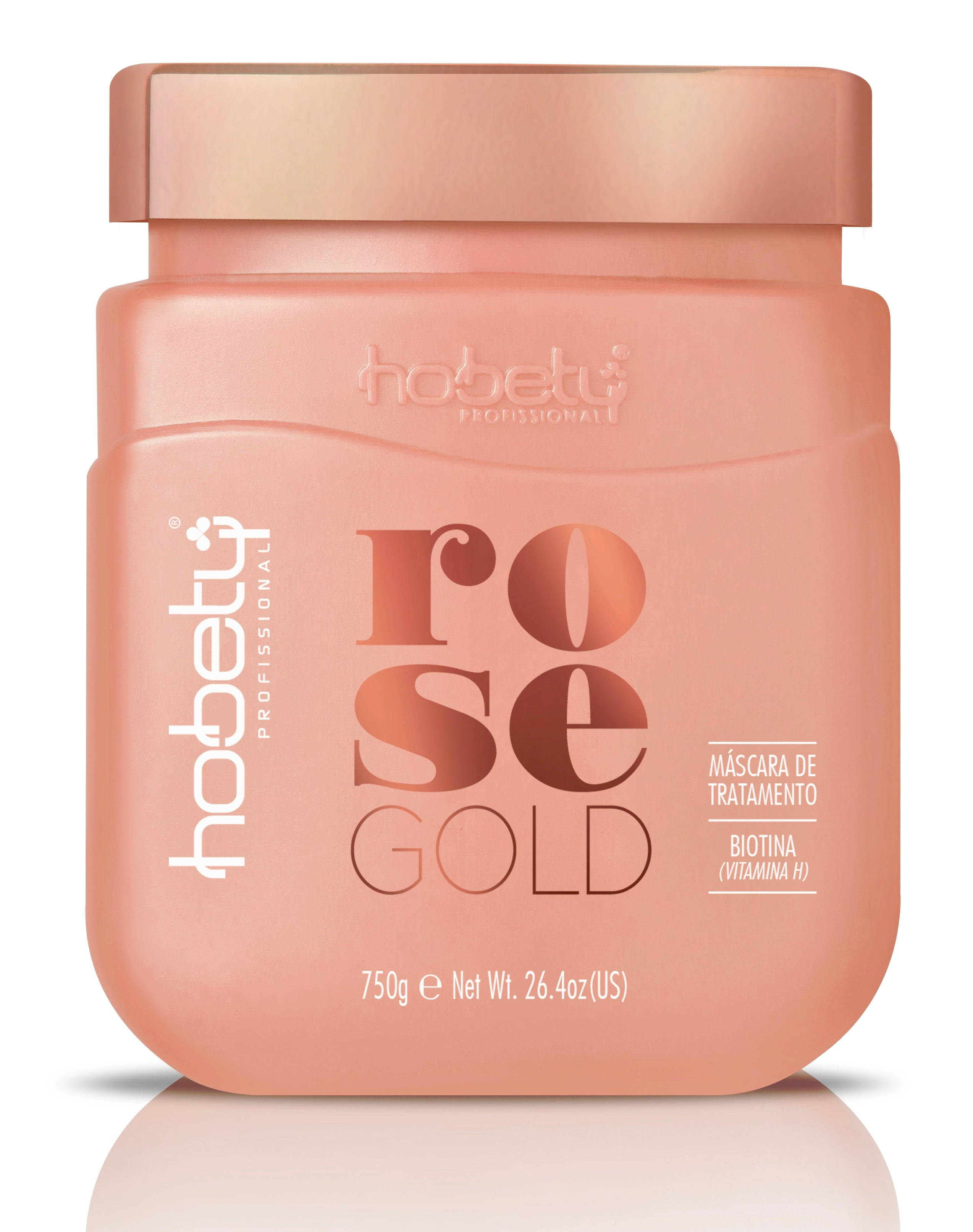 Rose Gold Conditioner Mask - 750g / 26.46oz - For brittle hair that needs growth and resistance. WITH BIOTIN.