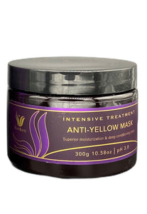 Anti-Yellow Conditioner Ranbass 300g / 10.58oz - For blonde, gray and gray hair. Neutralizes unwanted yellow and orange tones.