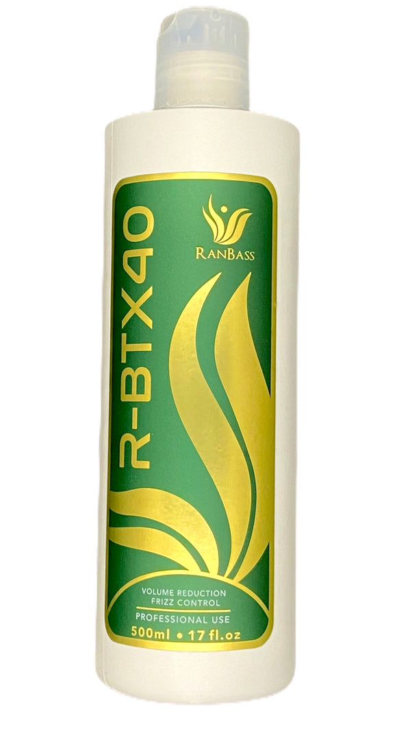 Hair Volume Reducer R-BTX40 Ranbass - 500ml / 17floz (MEDIUM) - Hair with shine, nutrition, repair, softness and  frizz control.