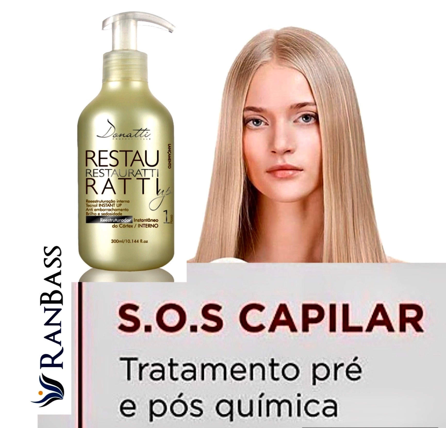 Restauratti Up - (SIZES: 10.58fl oz / 17fl oz) - It acts directly on the hair fiber, strengthening it and restoring it from the aggressions caused by chemical processes.