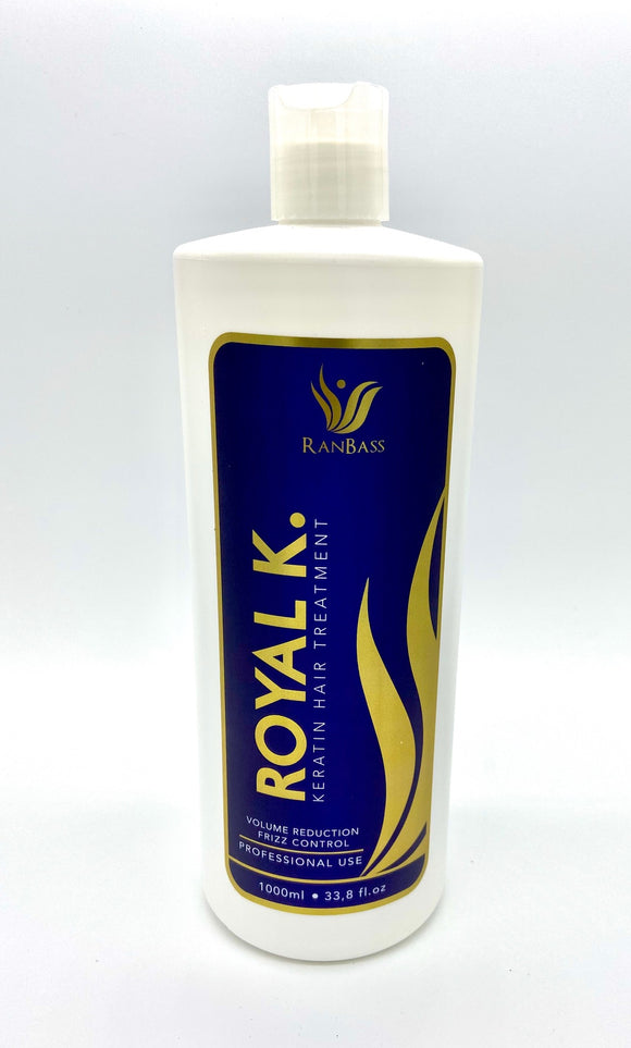 ROYAL K. Keratin Ranbass - Professional - 1L / 33.8fl oz. - For all types of hair. Formaldehyde free.