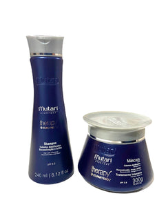Therapy Pantenol Set Mutari - 2 Steps - Shampoo 240ml / 8.12fl oz + Mask 300g /10.58oz - Reconstruction and Hydration Line - For dry or chemical hair.