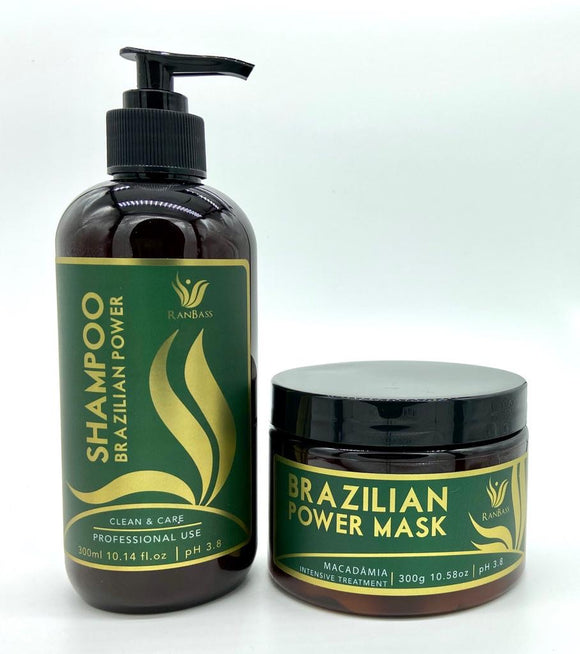 Brazilian Power Macadamia SET /Nutrition Line - Shampoo 300ml / 10.58fl oz + Mask 300g / 10.58oz - Nutrition Line for all hair types.