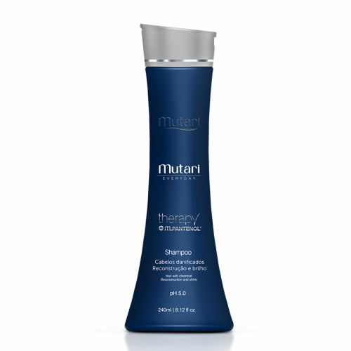 Therapy Panthenol Shampoo Mutari - 240ml / 8.12fl oz - Reconstruction and Hydration Line - For dry or chemical hair.