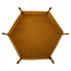 Leather Folding Hexagon Dice Tray