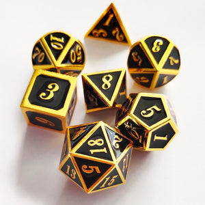 Metal Dices Set Zinc Alloy with Enamel Solid Metal