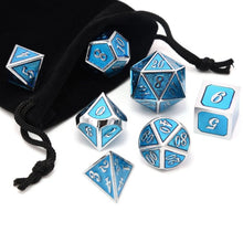 Load image into Gallery viewer, Metal Dices Set Zinc Alloy with Enamel Solid Metal