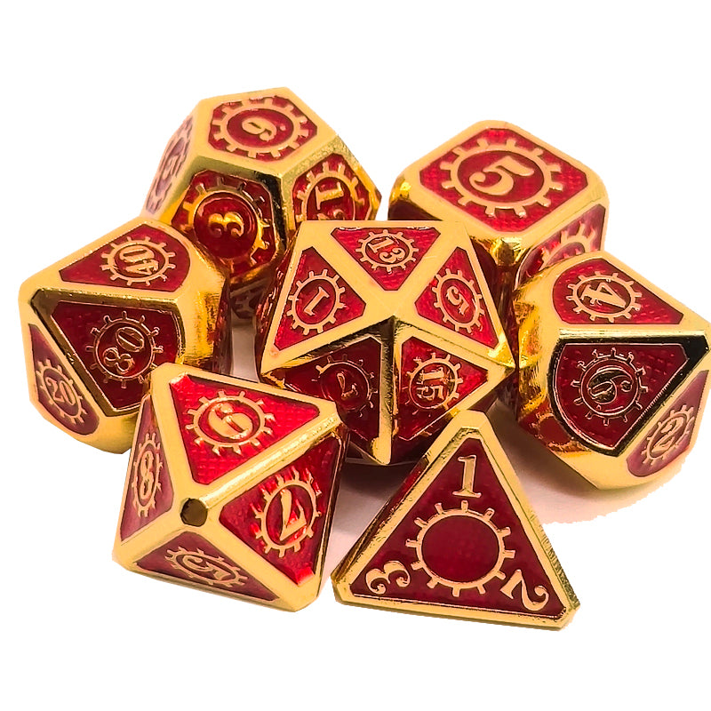 Cog Design Metal Dice
