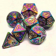 Load image into Gallery viewer, Cog Design Metal Dice