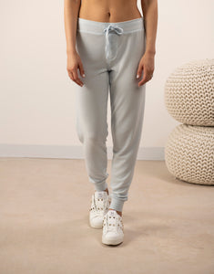 Cozy banded joggers in morning blue
