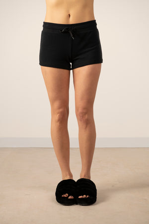 Cozy shorts in back to black
