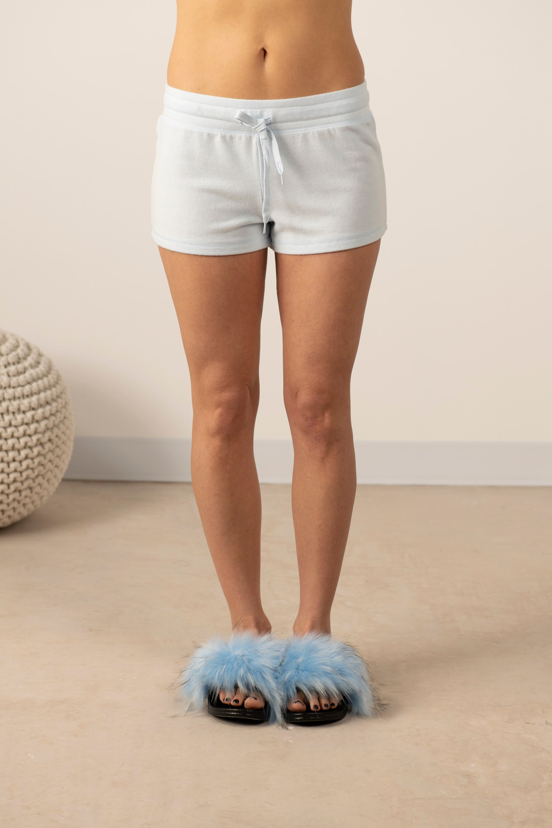 Cozy shorts in morning blue
